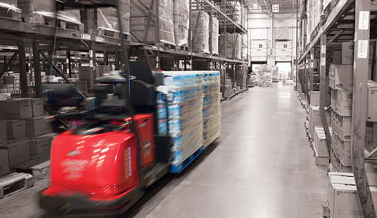 warehouse automation, automated lift trucks, AGV