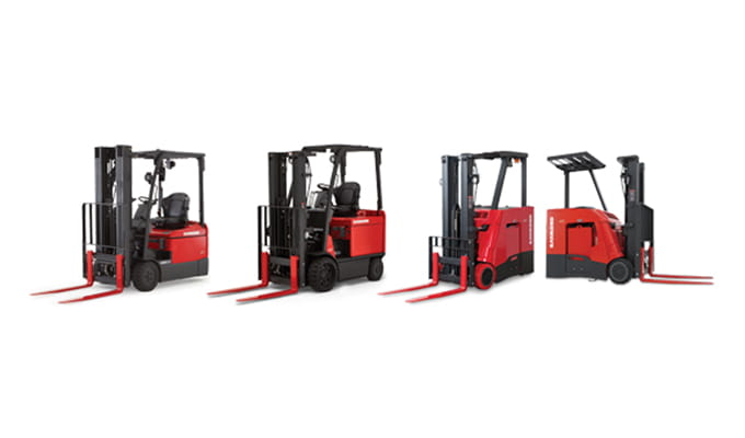 Raymond forklifts, Stand up forklift, sit down forklift